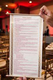 Wedding Program Scroll Invitations More Photos Hindu Ceremony Program Inside