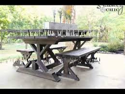 fold up picnic table vintage bench round picnic table