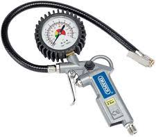 tire pressure gauge. draper air tyre inflator with pressure gauge for use a compressor 10604 tire