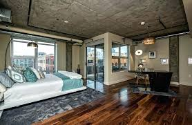 contemporary loft furniture. Loft Bedroom Contemporary With Balcony Wood Floors Concrete Ceiling And Exposed Duct Work Youth Furniture