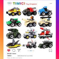 LG031] Đồ chơi lego shopee xếp hình xe quân sự các loại mini cho bé giá rẻ