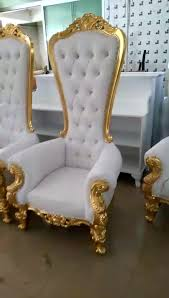 hc503 hotel furniture wooden luxury french baroque white gold high back queen king throne wedding