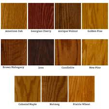 Maple Stain Color Chart Wood Stain Stencil