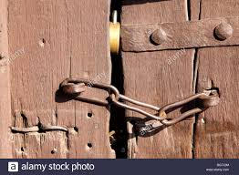 Door Lock Chain Old Door Lock Chain Stock Photos Old Door Lock Chain Stock