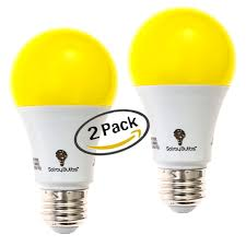 Yellow Light Bulbs Repel Bugs Details About Solray Amber Yellow Led Bug Light Bulb 2 Pack No Blue Light Outdoor 650 Lumens
