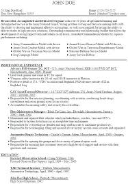 Military Resume Builder Military Transition Resume Examples Military