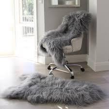 icelandic sheepskin grey single hide sheepskin rug and throw