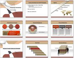 Company Overview Templates Powerpoint Professional Introduction Template