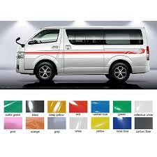 Toyota Hiace Sticker Design 2 Pcs Wave Line Side Door Stripe Graphic Vinyl Car Sticker For Hiace 2015 2016 2017 2018 2019