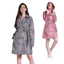 <b>1PC high quality</b> waterproof women rain trench coat ladies hooded ...