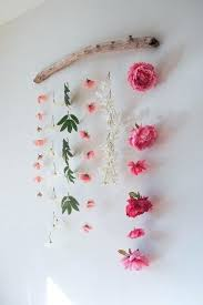 wall flower decor faux flower wall hanging the learner observer diy hanging flower wall decor