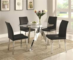 5 piece espresso dining set amazing round 5 piece dining set in glass top by coaster