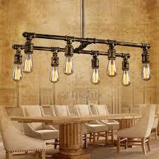 lighting industrial look. Loft 8Light Industrial Style Lighting Fixtures Bar Counter Look