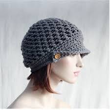 Crochet Newsboy Hat Pattern Classy Shop Crochet Slouchy Hat With Brim On Wanelo