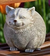 cat garden statue. Pudgy Pals Round Smiling Chubby Cat Outdoor Garden Statue Figurine 75263 | EBay