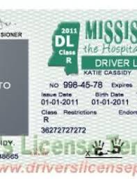 Drivers Ms Mississippi Fake Psd License Pds -