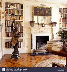 Living Room Alcove Blackamoor Statue In Living Room With Alcove Bookshelves On Either