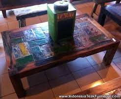 reclaimed boat wood furniture coffee table from bali indonesia bali crafts com