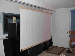 diy outdoor projector screen material