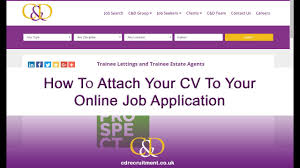 How To Upload Your Cv With Your Online Job Application Youtube