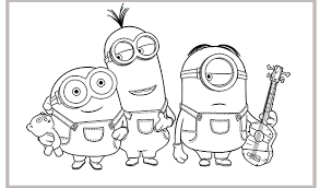 Small Picture Coloring Pages Minions Kevin Minion Coloring Pages Coloring