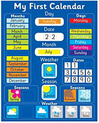 Fabric Days Of The Week Chart Childrens Today Is Fabric Wall Hanging Chart Amazon Co