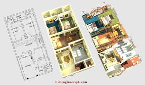6 marla house plans civil engineers pk