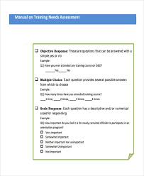 Needs Assessment Form Template