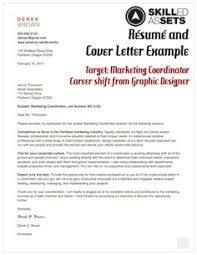 resume and cover letter example target marketing coordinator marketing cover letter templates