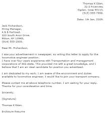 Engineer Cover Letter Examples Cover Letter Example 2 Civil