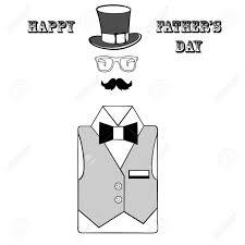 幸せな父の日父の日グリーティング カードかわいいお父さんアクセサリー白地に