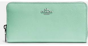 Lyst - Coach Accordion Zip Wallet In Embossed Textured Leather in Green