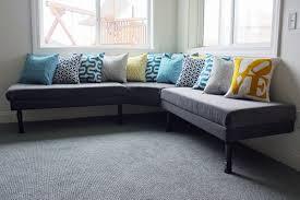 DIY Upholstered Built In Bench Part 2}