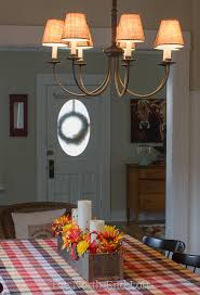 the shades are easy to install with a metal clip that fits over the chandelier bulbs along with the dimmer we already have installed on our light switch i