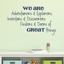 Adventurers Explorers Wall Quotes Decal Wallquotescom
