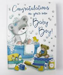 Congratulations On Your Baby Boy Congratulations On Your New Baby Boy Greeting Card Envelope Seal