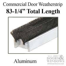 commercial door astragal 84 with weatherstrip aluminum commercial door astragal