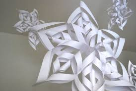 How To Make A 3d Snowflake How To Make An Easy 3d Paper Snowflake Feltmagnet