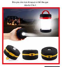 ĐÈN PIN GẤP GỌN DÙNG ĐI CẮM TRẠI ĐI PHƯỢT CỰC TIỆN LỢI KJ 8817 - Đèn pin  cắm trại dã ngoại có thể thu gọn tiện lợi 2 In 1