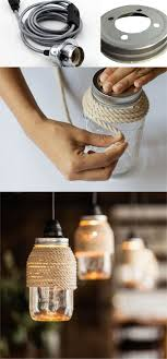 rope mason jar lights. Rope Wrapped Mason Jar Lights N