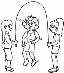 Disegno Di Bambini Che Saltano La Corda Da Colorare Disegni Da
