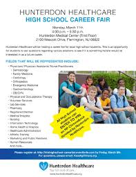 High School Career Fair Hunterdon Healthcare