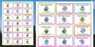 Characteristics Of A Superhero Superhero Themed Characteristics Of Effective Learning Stickers