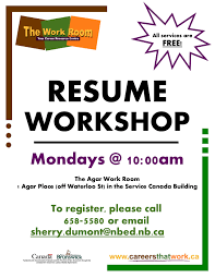 Resume building, every Monday @ 10 am begins again January 22, 2018. FREE  SERVICES.  Assistance with resume building