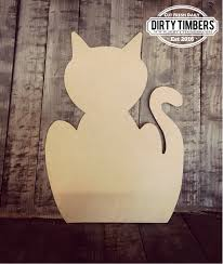 unfinished cat door hanger pet diy blank wood cut out ready to paint custom whole