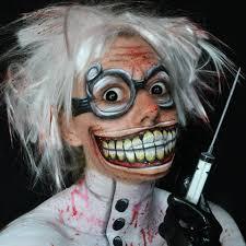 deranged mad scientist makeup facepaint