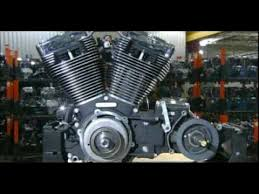 harley davidson engine assembly on the factory line