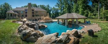 Backyard Pool Designs Landscaping Pools Amazing K C Land Design Construction