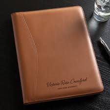 Interior Elegant Nootbook Design With Beige Leather Personalized