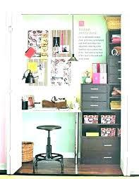 closet turned into office space desk ideas 5 organizer closets r